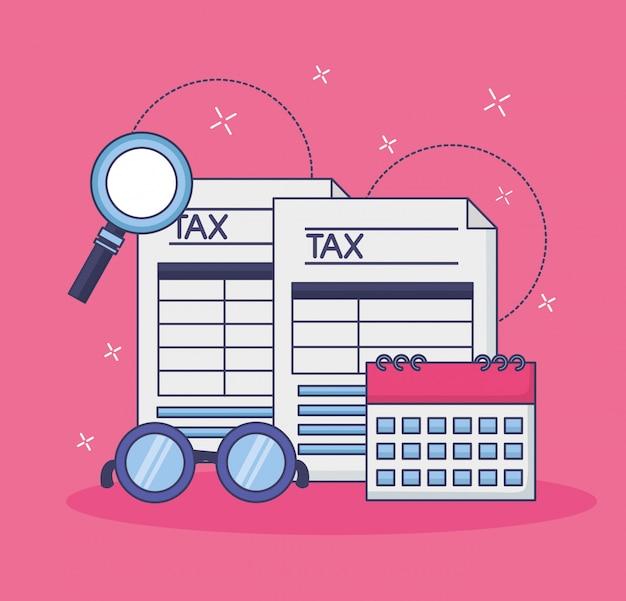 Concept de paiement des taxes