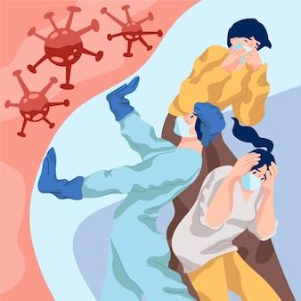 Concept de pandémie et de peur