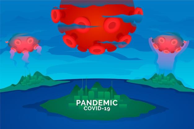 Concept pandémique coronavirus