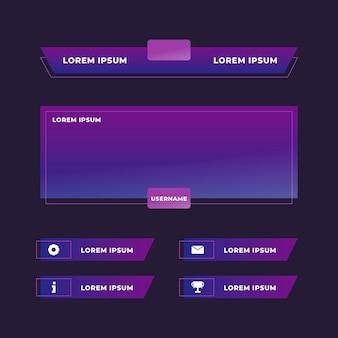 Concept de panneaux de flux twitch