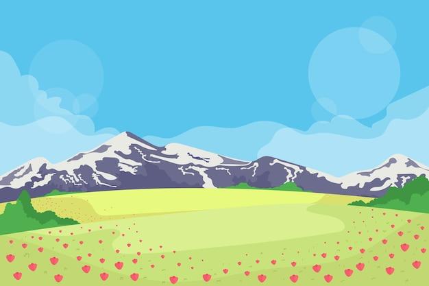 Concept de panorama de printemps