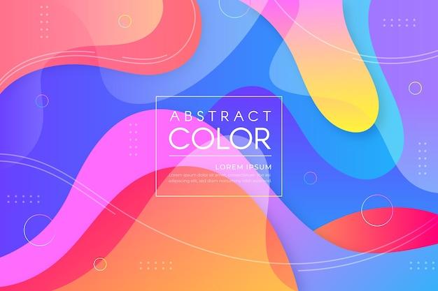Concept de papier peint abstrait coloré