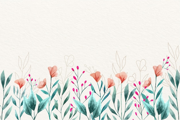 Concept de papier peint floral aquarelle
