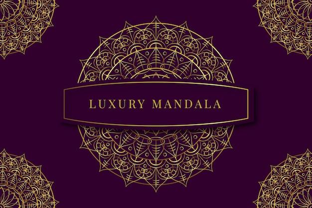 Concept de papier peint de luxe mandala