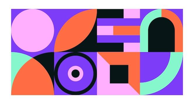 Concept de papier peint mural géométrique