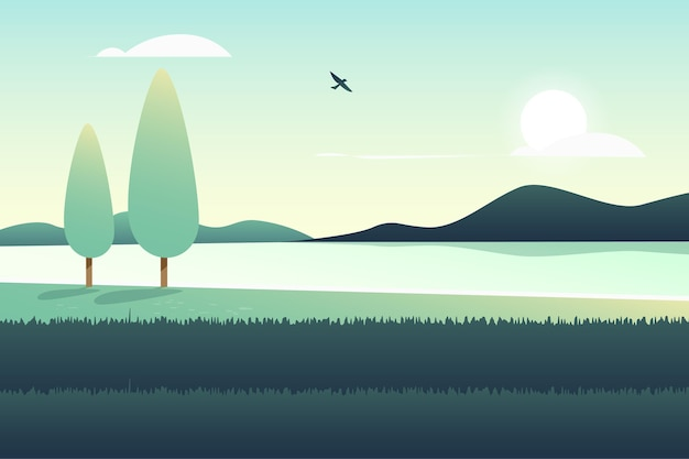 Concept de papier peint paysage naturel