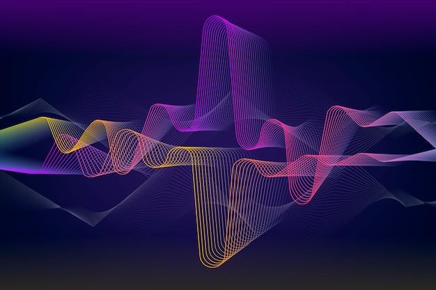 Concept de papier peint vague d'égaliseur coloré