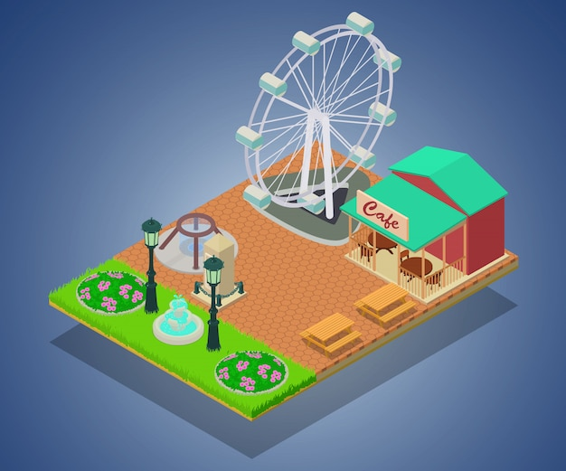 Concept de parc d'attraction