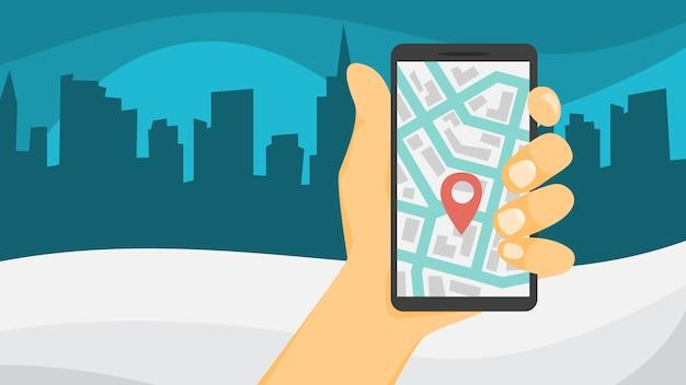 Concept de partage de voiture. réservez une voiture via une application sur le téléphone mobile. service de transport en ligne. concept de voyage. illustration