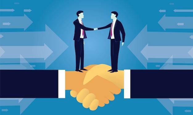 Concept de partenariat d'accord d'affaire