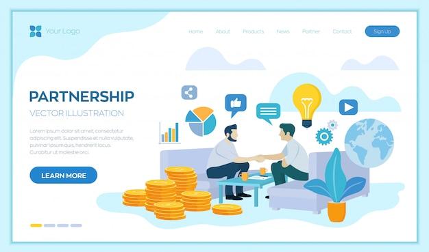 Concept de partenariat. financement de projets créatifs. poignée de main de deux hommes d'affaires. accord des parties. signature des documents.