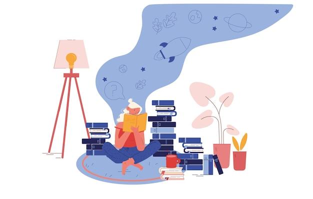 Concept de passe-temps d'éducation et de lecture