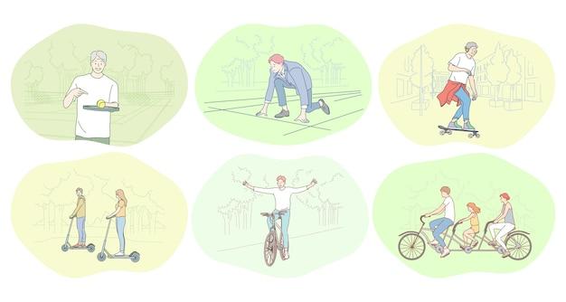 Concept de passe-temps de loisirs de sport de mode de vie actif sain