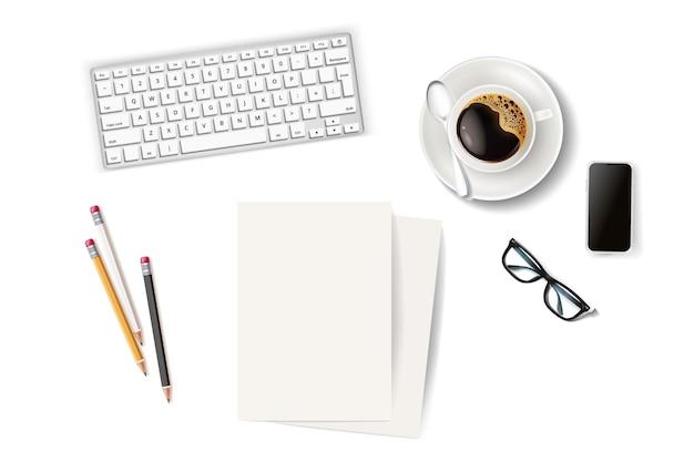 Concept de pause-café de bureau d'affaires