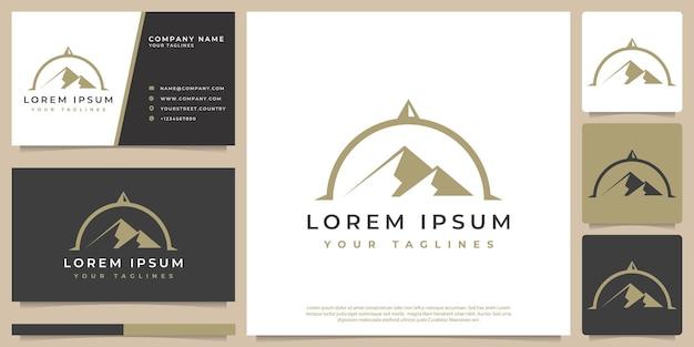 Concept de paysage de montagne logo vectoriel