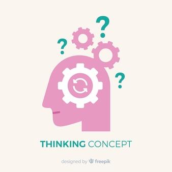 Concept de pensée plate