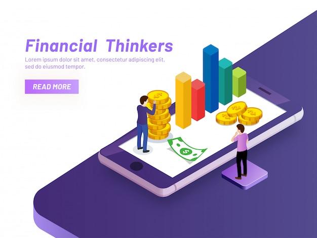 Concept de penseurs financiers.