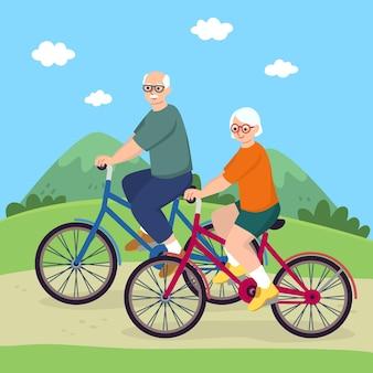 Concept de personnes âgées actives