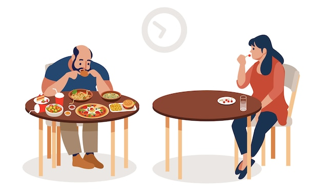 Concept de perte de poids.