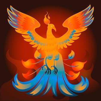 Concept de phoenix dessiné à la main