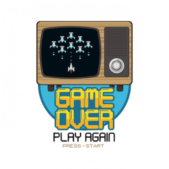 Concept pixelisé de jeux vidéo