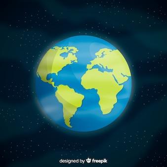 Concept de planète terre élégante