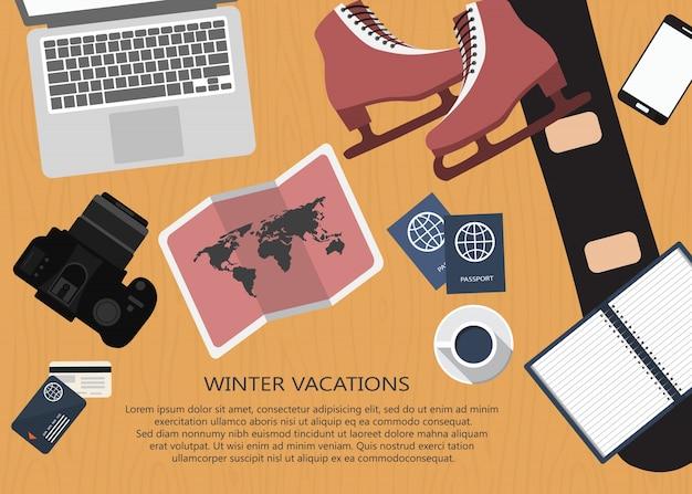 Concept de planification de voyage