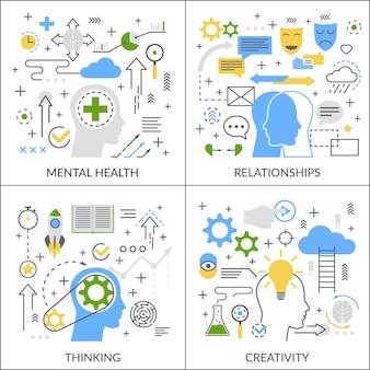 Concept plat d'activité mentale