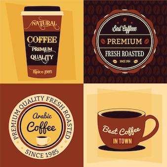 Concept plat de café