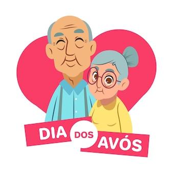 Concept plat dia dos avós