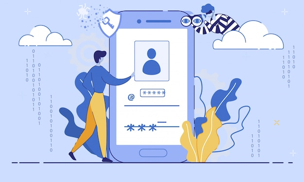Concept plat de sécurité des données des utilisateurs internet