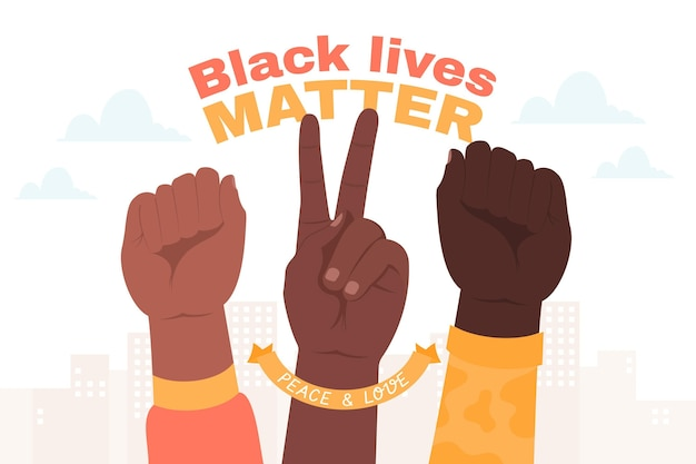 Concept de poings levés multiraciaux