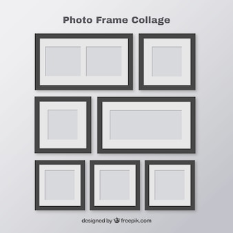 Concept de polaroid de collage de cadre photo