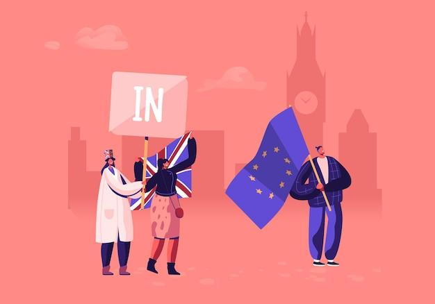 Concept de politique du royaume-uni. illustration plate de dessin animé