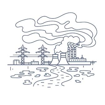 Concept de pollutions d'usine