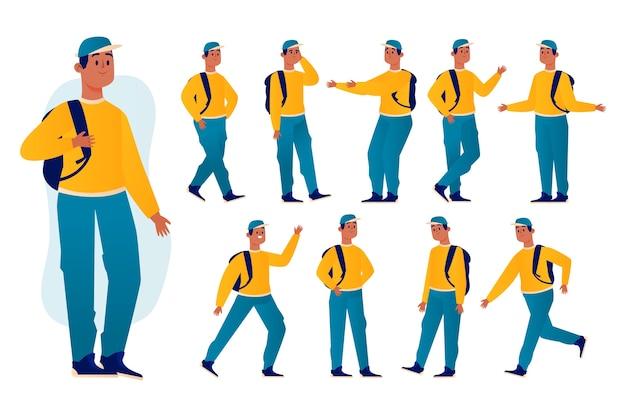 Concept de pose de personnage