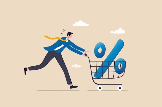 Concept de pourcentage de remise d'achat