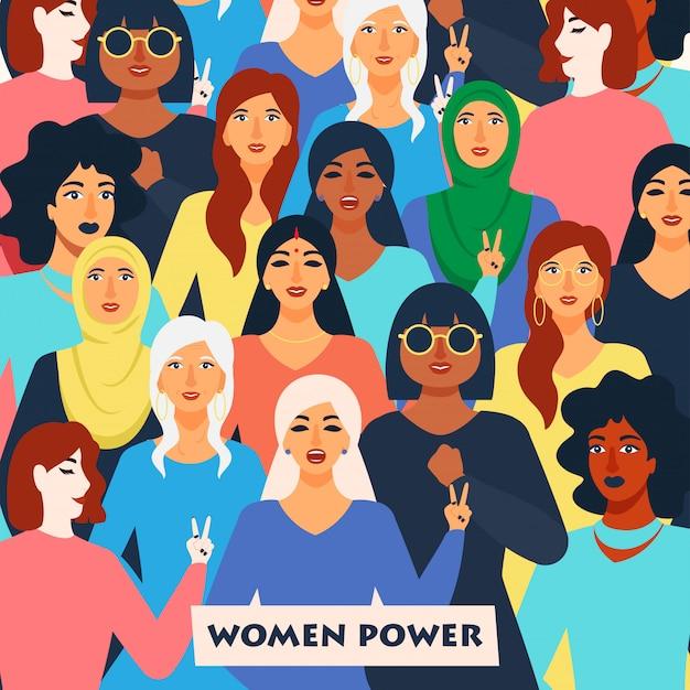 Concept de pouvoir des femmes.