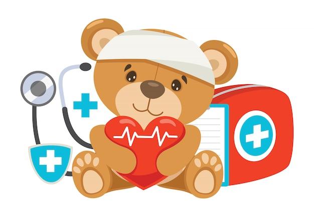 Concept de premiers soins de rcr pour les enfants