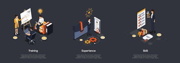 Concept de présentation d'entreprise.
