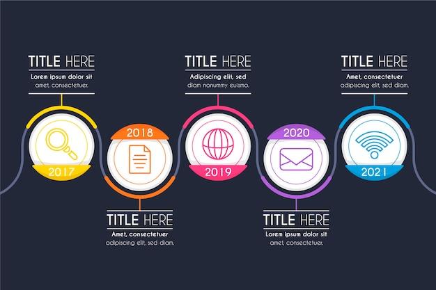 Concept de présentation infographique chronologie