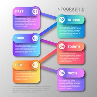 Concept de présentation infographique dégradé
