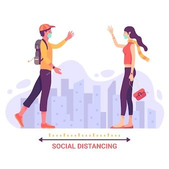 Concept de prévention de la distanciation sociale