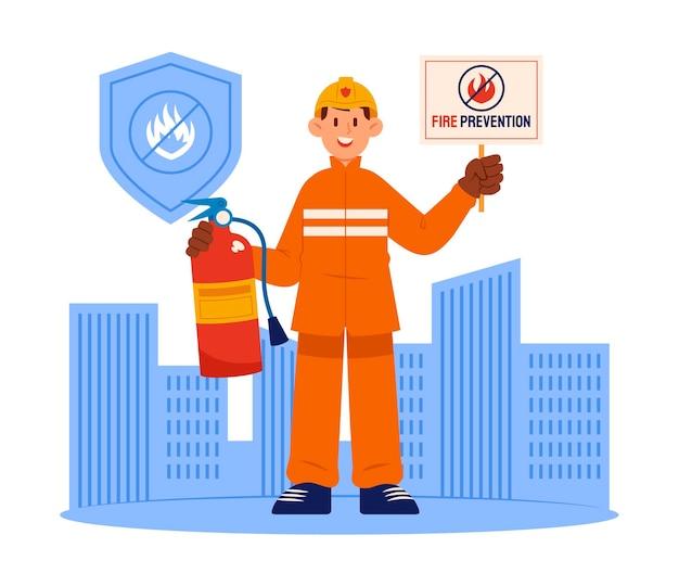 Concept de prévention des incendies dessiné à la main