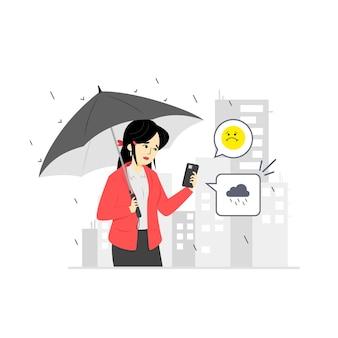 Concept de prévisions météorologiques
