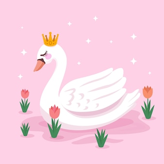 Concept de princesse cygne