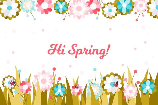 Concept de printemps design plat pour le fond