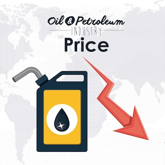 Concept de prix du pétrole avec des icônes de l'économie