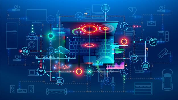 Concept de processus de codage de développement logiciel
