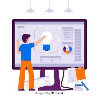 Concept de processus de conception de page de destination